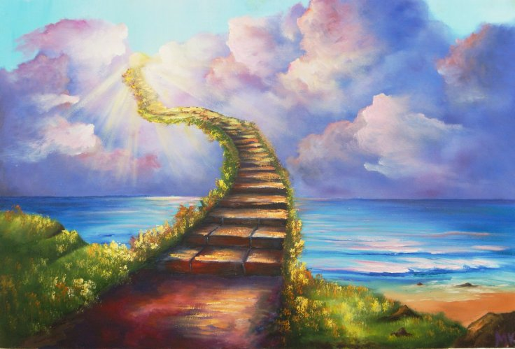 Stairway-To-Heaven-Ocean-Landscape-Painting-HD-Christian-Wallpaper